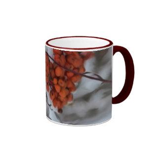 Holiday Berries Ringer Coffee Mug