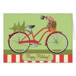 Holiday Bicycle Greeting Card