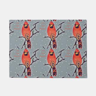 Holiday Bird Doormat