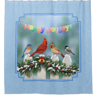 Holiday Birds & Christmas Garland