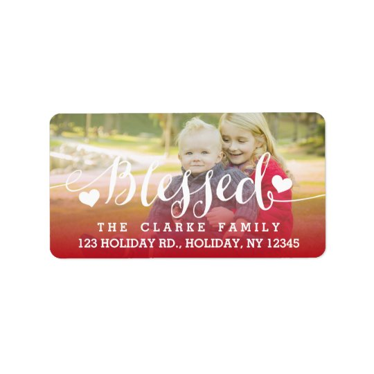 Holiday Blessings | Photo Address Label