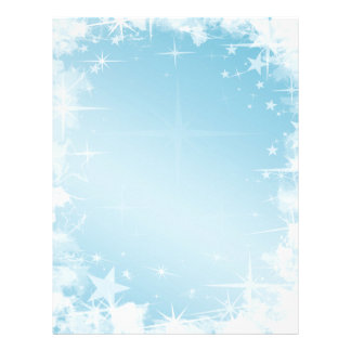Holiday Blue Stars Letterhead