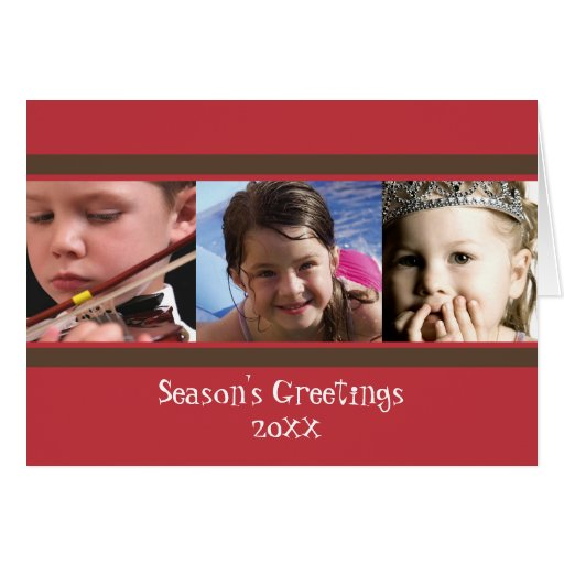 Holiday Brown Stripe Folded Card