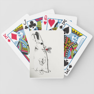 Holiday Bunny Bicycle Playing Cards