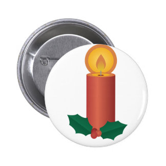 Holiday Candle 2 Inch Round Button