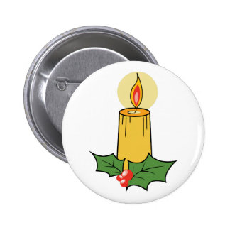 Holiday Candle Pinback Buttons