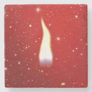 Holiday Candle Flame Stone Coaster