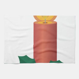 Holiday Candle Hand Towel