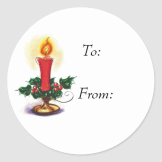 Holiday Candle sticker