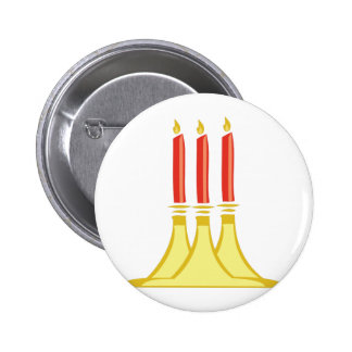 Holiday Candles 2 Inch Round Button