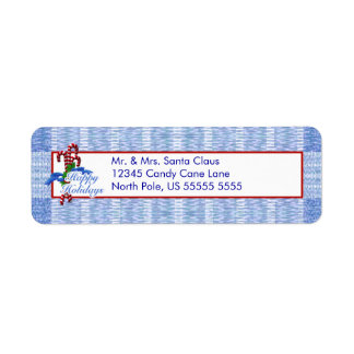 Holiday Candy Cane Return Address Labels