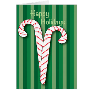 Holiday Candy Canes Card