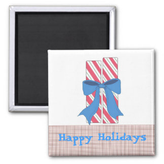 Holiday Candy Sticks Square Magnet