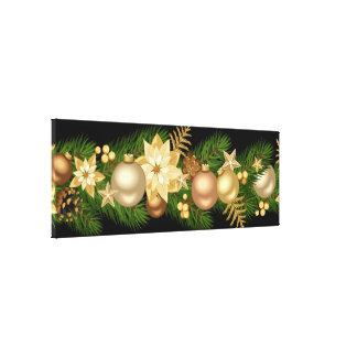 Holiday Canvas Art-Festive Garland