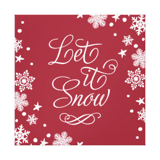 Holiday Canvas Art | Let it Snow Stretched Canvas Print