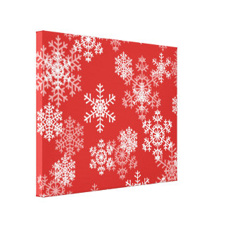 Holiday Canvas Art-Snowflakes