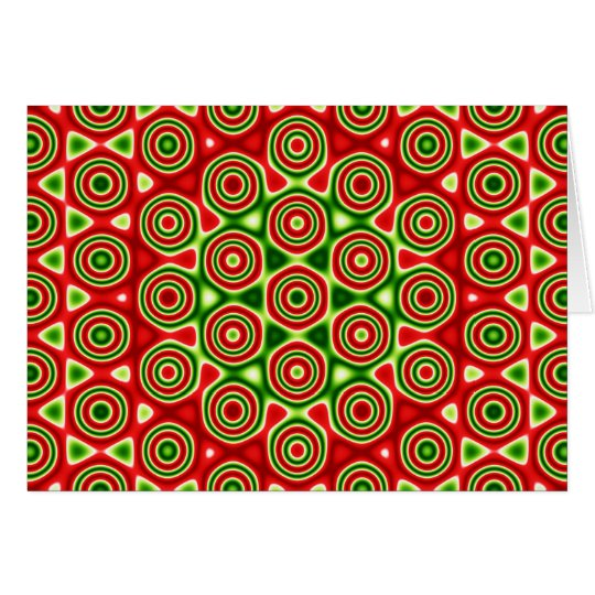 Holiday Card: Red and green quasicrystal Card
