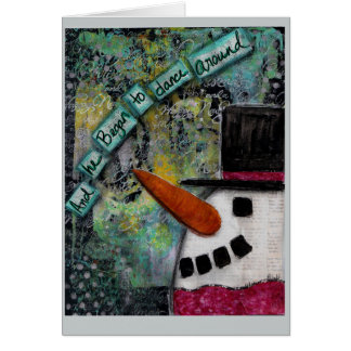 Holiday Card Snowman