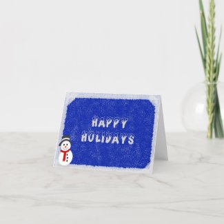 Holiday Card - Snowman Blue