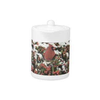 Holiday Cardinal Teapot