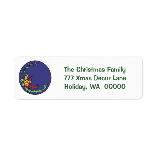 Holiday Cards Return Address Label