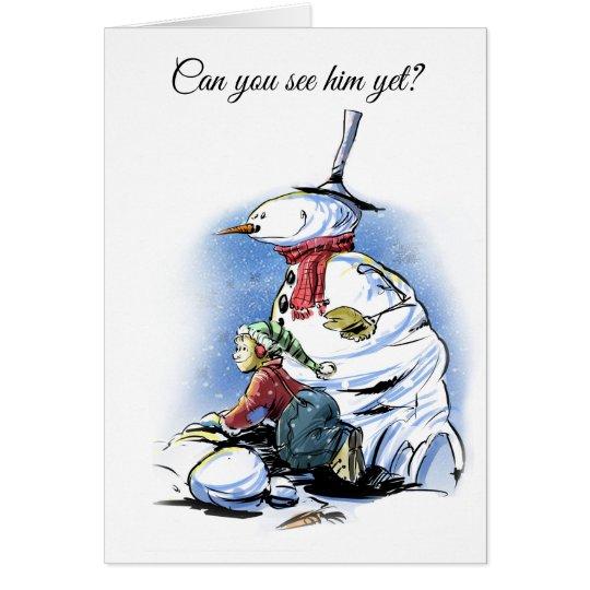 Holiday Cartoon card