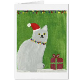 Holiday Cat Card