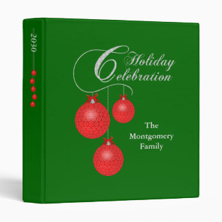 Holiday Celebration, Red Lace Ornaments 1 inch Binders