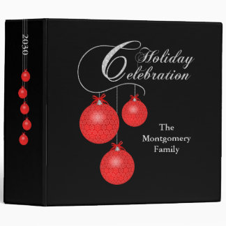 Holiday Celebration, Red Lace Ornaments 2 inch Vinyl Binder