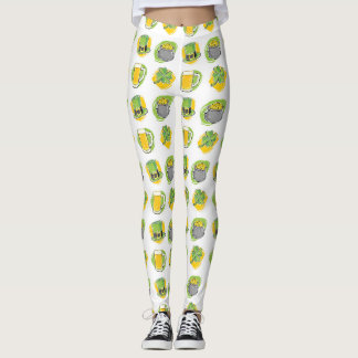 Holiday Celebration Symbols Leggings