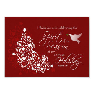 "Holiday Charity Benefit Invitation 5"" X 7"" Invitation Card"