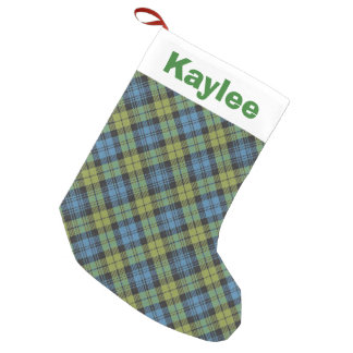 Holiday Charm Campbell Tartan Plaid Small Christmas Stocking