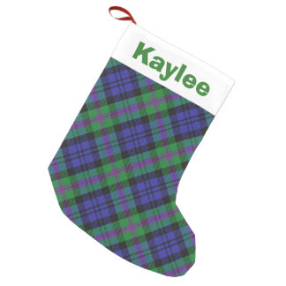 Holiday Charm Clan Baird Tartan Small Christmas Stocking