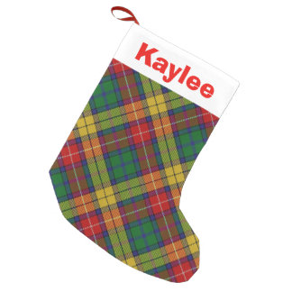 Holiday Charm Clan Buchanan Tartan Small Christmas Stocking