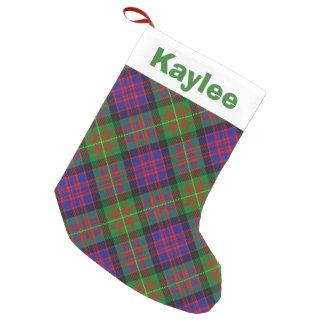 Holiday Charm Clan Carnegie Tartan Small Christmas Stocking