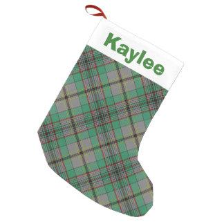 Holiday Charm Clan Craig Tartan Small Christmas Stocking