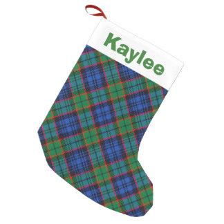 Holiday Charm Clan Fletcher Tartan Small Christmas Stocking