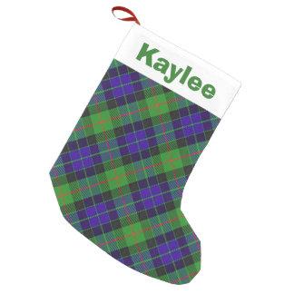 Holiday Charm Clan Gunn Tartan Small Christmas Stocking