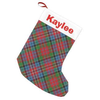 Holiday Charm Clan Kidd Tartan Small Christmas Stocking