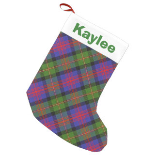 Holiday Charm Clan Logan Tartan Small Christmas Stocking