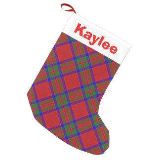 Holiday Charm Clan MacGillivray Tartan Small Christmas Stocking