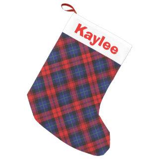 Holiday Charm Clan MacLachlan Tartan Small Christmas Stocking