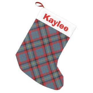 Holiday Charm Clan MacNamara Tartan Small Christmas Stocking