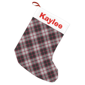 Holiday Charm Clan MacPherson Tartan Small Christmas Stocking