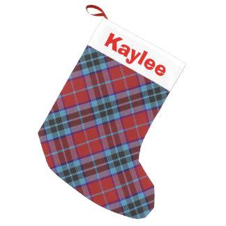 Holiday Charm Clan Mactavish Tartan Small Christmas Stocking