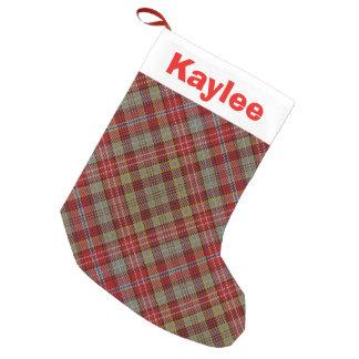 Holiday Charm Clan Ogilvie Ogilvy Tartan Small Christmas Stocking