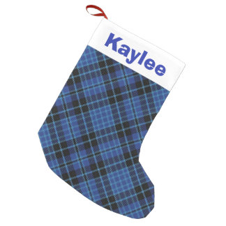 Holiday Charm Scottish Clergy Tartan Small Christmas Stocking