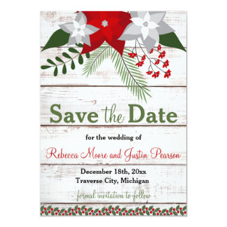 Holiday Charm - Winter/Christmas Save The Date Card