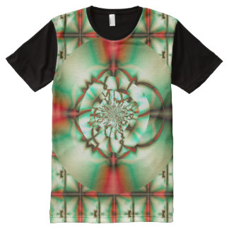 Holiday Cheer Abstract Fine Fractal Art All-Over-Print T-Shirt