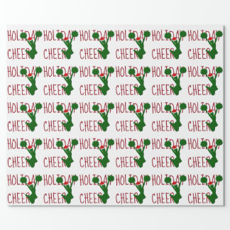Holiday Cheer Cheerleader Holiday Spirit Wrapping Paper